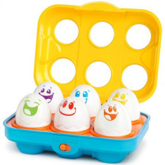 Jucarie Put n Shake Eggs Giggling Gourmet - Jucarie pentru patut Bright Starts