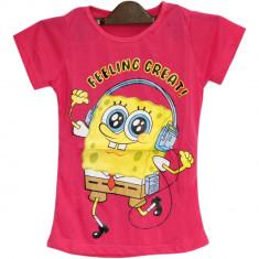 Tricou roz Sponge Bob, pentru fetite