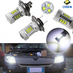Set Becuri LED H7 105w cu Led-uri CREE - Led auto, Universal
