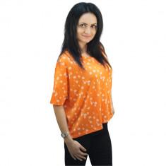 Tricou portocaliu cu buline, dama, Bluhmod