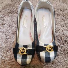 PANTOFI PLATFORMA PLUTA REPLICA BURBERRY MARIMEA 37, 38 - Pantof dama, Culoare: Din imagine