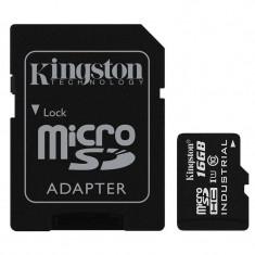 Card Kingston Industrial microSDHC 16GB 45 Mbs Clasa 10 UHS-I U1 cu adaptor SD - Card memorie foto