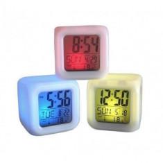 Ceas cub multicolor Practic HomeWork - Ceas desteptator