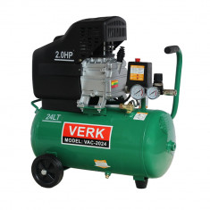 Compresor de aer Verk putere 2 CP capacitate 24 Litri Practic HomeWork - Compresor electric