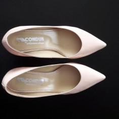 Pantofi dama din piele naturala, CONDUR by alexandru - Pantof dama, Culoare: Nude, Marime: 36
