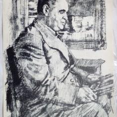 JEAN ALEXANDRU STERIADI - LITOGRAFIE SEMNATA (1942)