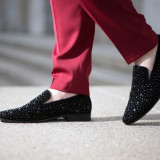 Pantofi Crystal Loafer Black COD: LBC  ** NEW COLLECTION **