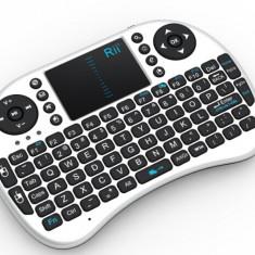 Mini tastatura bluetooth Rii i8+ iluminata cu touchpad compatibila Smart TV