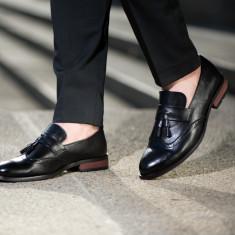 Pantofi eleganti Loafer. Cod BEL 1. Disponibili in trei culori. COLECTIA NOUA! - Pantofi barbat, Marime: 40, 43, 44, Culoare: Visiniu, Piele naturala