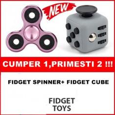 FIDGET SPINNER+FIDGET CUBE.CUMPERI 1 PRIMESTI 2 ! NOILE SPINNERE ANTI STRES!