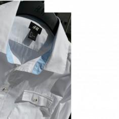 Camasa barbati H&M nr.M originala noua, Marime: M, Culoare: Alb, Maneca lunga