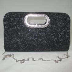Plic/geanta dama neagra eleganta de ocazie+CADOU, Culoare: Din imagine, Marime: Mare