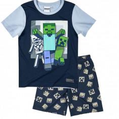 Pijama de vara Minecraft denim