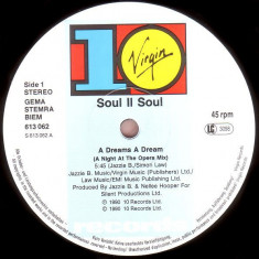 Soul II Soul - A Dreams A Dream 1990 disc vinil Maxi Single RnB/Swing - Muzica R&B