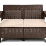 Canapea Corfu Love Seat Brown Warm Taupe Curver 3253929115165