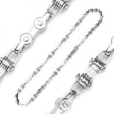 Lanţ realizat din oţel de 316L, - imitaţie de lanţ de bicicletă, culoare argintie - Colier inox