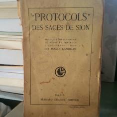 PROTOCOLS DES SAGES DE SION PARIS 1921 PROTOCOALELE ÎNȚELEPȚILOR SIONULUI FRANCE - Istorie