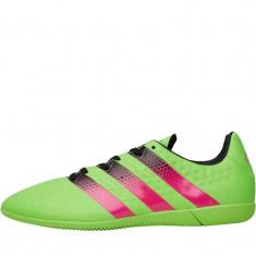 Ghete de fotbal cu talpa de sala asfalt ACE 16.3 ORIGINALI 44 - Ghete fotbal Adidas, Culoare: Verde, Verde, Barbati, Asfalt: 1, Sala: 1