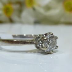 Inel aur 18k cu diamant 0.5ct - Inel diamant, Culoare: Alb