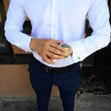 Camasa eleganta barbati cu butoni - tip zara - alba - slim fit - casual - Camasa barbati, Marime: S, M, L, XL, XXL, Maneca lunga