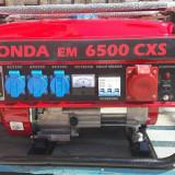 Generator de curent Honda, 5 kw,  220v/380v, benzina+GPL, NOU, livrare gratuita