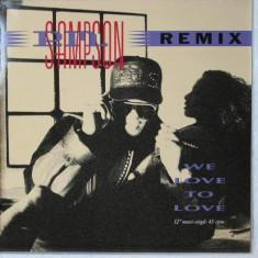 P.M. Sampson - We Love To Love (Remix) 1990 disc vinil Maxi Single Hip Hop / rap - Muzica Hip Hop