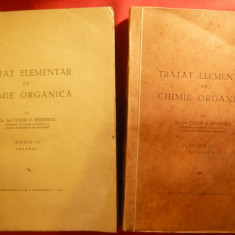 C.G.Nenitescu - Tratat elementar de Chimie Organica 1946-1947 ,vol.1 si 2