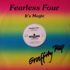 Fearless Four - It's Magic 1984 disc vinil Maxi Single Hip Hop - Muzica Hip Hop