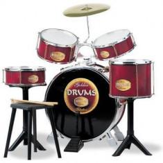 Baterie si set tobe - Golden Drums - Instrumente muzicale copii Reig Musicales
