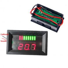 Indicator nivel incarcare baterie 12V voltmetru masina, motocicleta !
