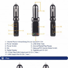 Car kit auto bluetooth mp3 - Modulator FM auto PilotOn