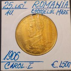 25 lei 1906 - aur - Moneda Romania