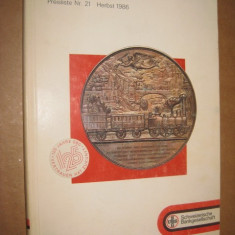 Catalog Banca N. Elvetia-Numismatik nr.21 Toamna 1986. Monede aur si argint