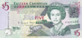 Bancnota Caraibe ( Eastern Caribbean ) 5 Dolari (2008) - P47 UNC