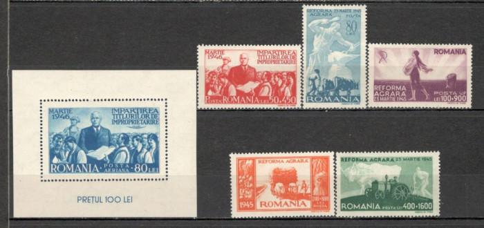 Romania.1946 Reforma agrara  XR.121 foto mare