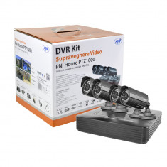 Resigilat : Kit supraveghere video PNI House PTZ1000 - DVR si 4 camere exterior 10