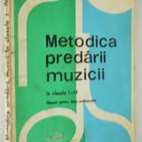 Metodica predarii muzicii - pentru clasele I - IV, 1973 - Manual scolar, Clasa 5, Alte materii