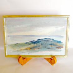 Peisaj marin, ulei pe panza cartonata 24 x 16 cm, semnat Ulf Abrahamsson, Suedia - Pictor strain, An: 1997, Marine, Impresionism