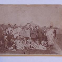Foto (veche) originala-echipa de fotbal scoala militara - regiunea Ploiesti
