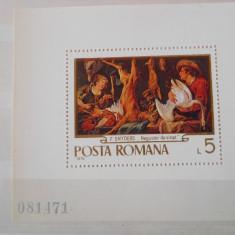 1970   LP  742 Reproduceri de arta ''Vanatoarea'', Nestampilat