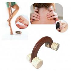 Aparat masaj din lemn cu 4 role - Echipament de masaj