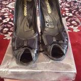 Pantofi - Pantof dama, Culoare: Negru, Marime: 35, Cu platforma