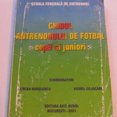 Carte fotbal - Ghidul antrenorului de fotbal - copii si juniori