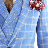 Costum tip ZARA - sacou + pantaloni + vesta - costum barbati 8397, Marime: 44, 48, 50, 52, Culoare: Din imagine
