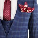 Costum tip ZARA - sacou + pantaloni + vesta - costum barbati 8394, Marime: 46, Culoare: Din imagine