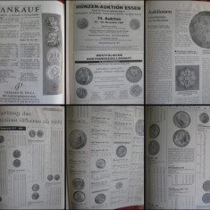 Catalog Licitatii Monede si Bancnote- Noiembrie 1997. Munzen&Papiergeld.Germania