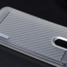 Husa MOTOMO Carbon Fiber Huawei P10 Lite CLEAR - Husa Telefon