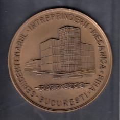 SEMICENTENARUL INTREPRINDERII MECANICA FINA 1925 - 1975 STARE BUNA IN CUTIE - Medalii Romania
