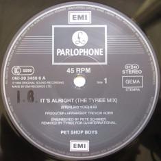 Pet Shop Boys - It's Alright (The DJ International Mixes) disc vinil Maxi Single - Muzica House