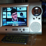 MINI TV LCD 5 INCH MAJESTIC TVT 550TFT NOU CU TELECOMANDA LA CUTIE - Televizor LCD, Sub 48 cm, HD Ready